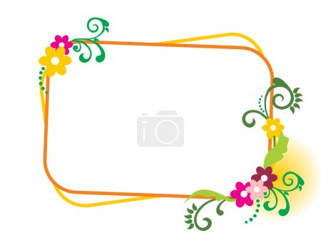 Background with beautiful frame, illustration