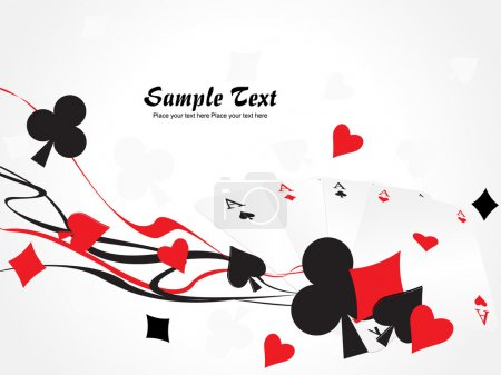 Illustration for Background with collection of playing cards - Royalty Free Image