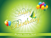 Beautiful happy birthday background illustration
