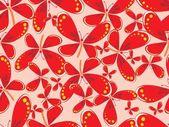 Beautiful butterfly pattern background