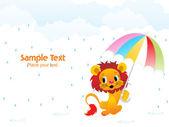 Abstract rainy background illustration
