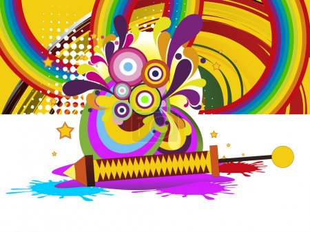 Abstract colorful artwork background for happy hol...