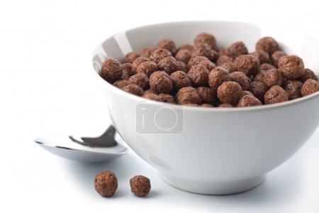 Photo for Bowl with chocolate balls isolated - Royalty Free Image