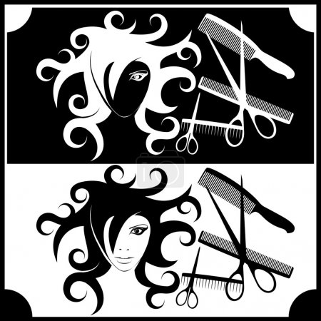 Illustration for Image for the interior hairdressing and beauty salons - Royalty Free Image
