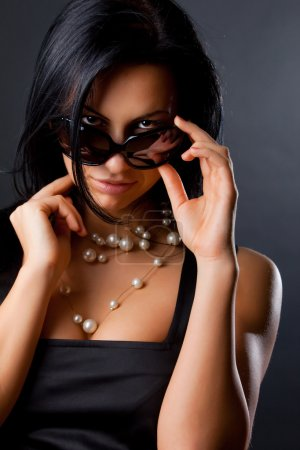 Photo for Image of sexy girl wearing sunglasses - Royalty Free Image