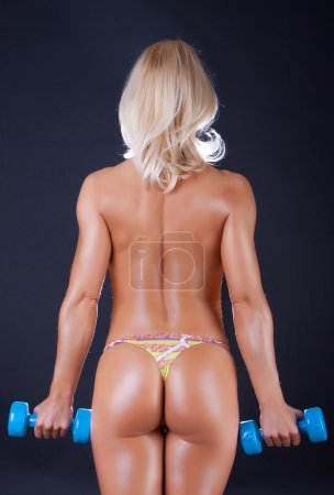 Back of sexy athlete