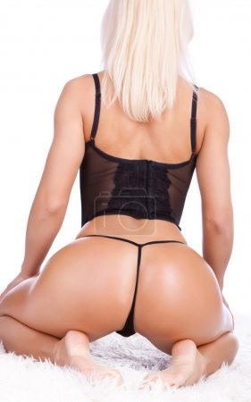 Sexy blonde from behind