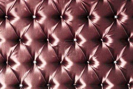 Photo for Stylish red silk upholstery - Royalty Free Image