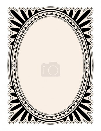 Illustration for Elegant oval frame with decorative filigree; illustration - Royalty Free Image