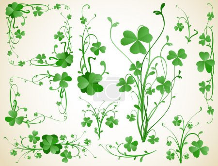 Illustration for Three leaves clover design elements - Royalty Free Image