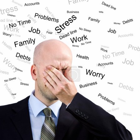 Photo for Stress Man. Businessman suffers from a headache - Royalty Free Image