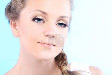 Beautiful health woman face