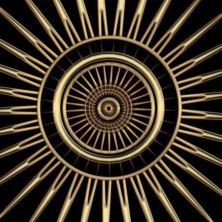 Symbol with rays