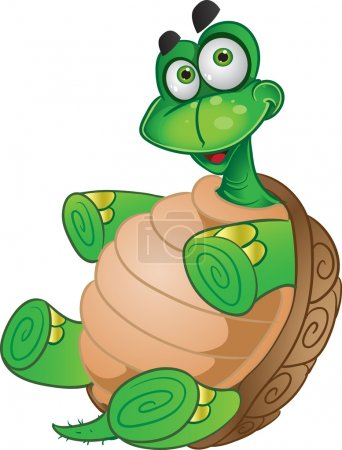 Illustration for Fun Tortoise - Royalty Free Image