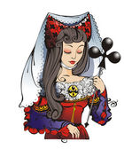 Pretty Queen of clubs
