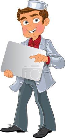 Illustration pour Jeunes hommes médicaux avec zone vierge pour le texte ou le logo - image libre de droit
