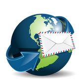 Globe and envelope