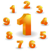 Number button set for web