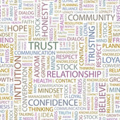 TRUST Seamless vector background Wordcloud illustration
