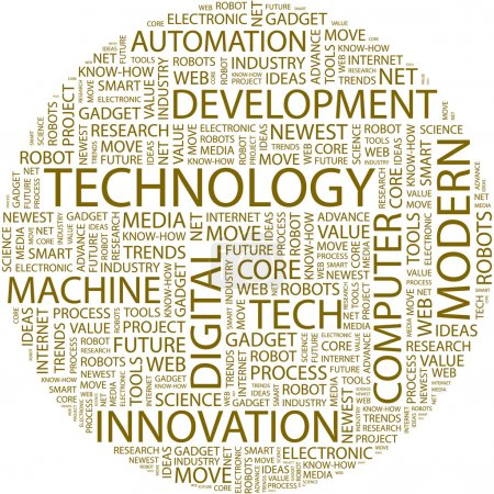 TECHNOLOGY. Word collage