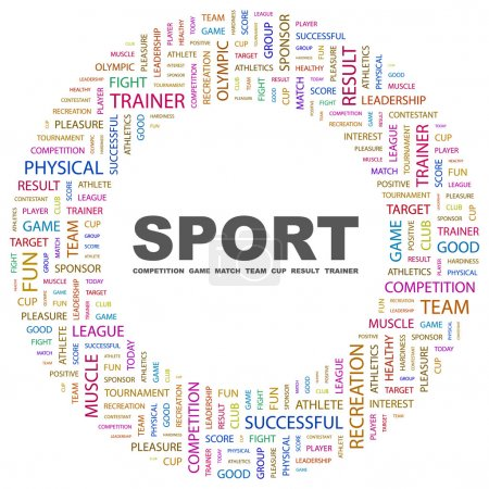 SPORT. Word collage on white background