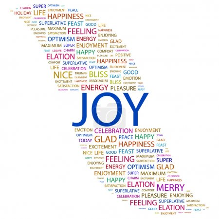 JOY. Word collage on white background