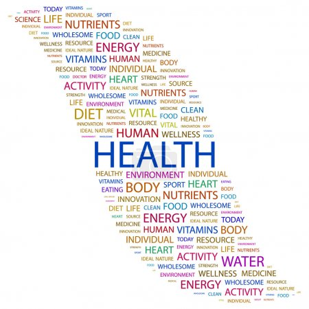 HEALTH. Word collage on white background