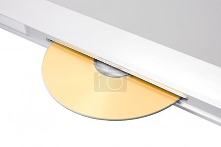 Modern dvd player with disk