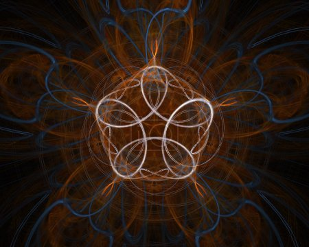 Photo pour Des lignes infinies. Texture fractale générée par ordinateur - image libre de droit
