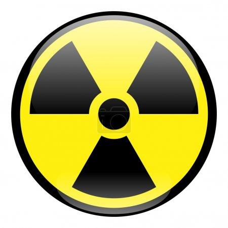 Radiation Round Sign Icon