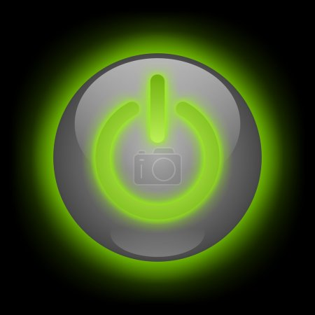 Glowing Power Button