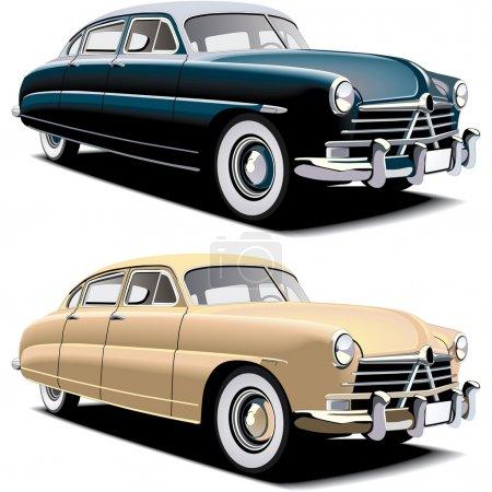 Old-fashioned big car