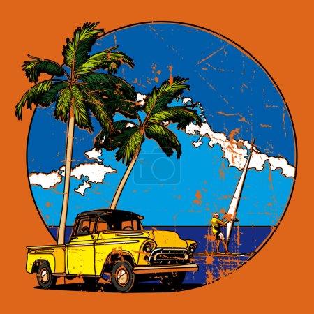 Vintage Hawaiian vignette