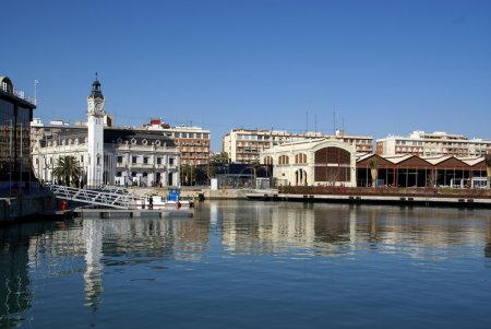 Views of the port of Valencia - Spain