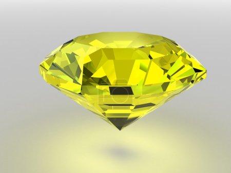 Yellow diamond with soft shadows
