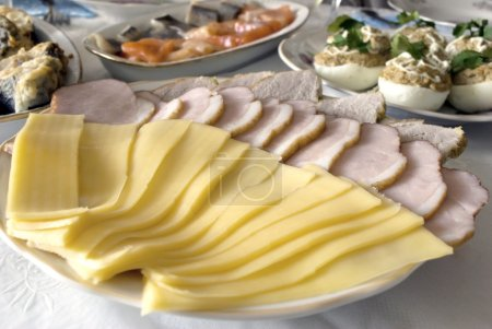 Meat and cheese appetizer