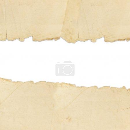 Foto de Vintage rasgado de papel con copyspace para el texto - Imagen libre de derechos