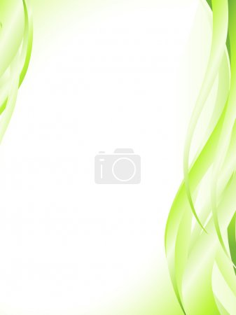 Illustration for Illustration of abstract light green wavy frame - Royalty Free Image