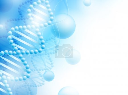 Photo for Science background with DNA theme and copyspace for your text, EPS10 - Royalty Free Image