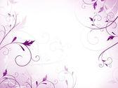 Violet floral frame