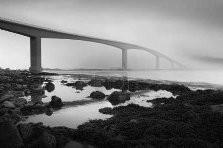 Bridge in norway nature
