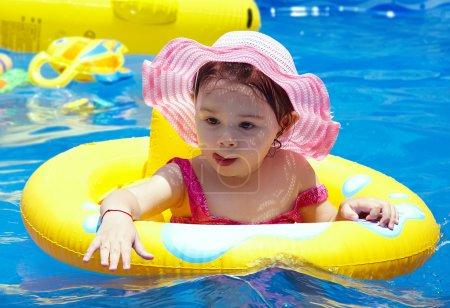 Small girl in the pool