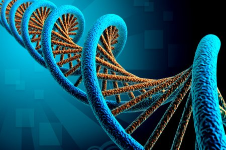 Photo for Digital illustration of DNA in color background - Royalty Free Image