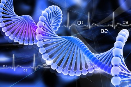 Photo for 3d dna in color background - Royalty Free Image