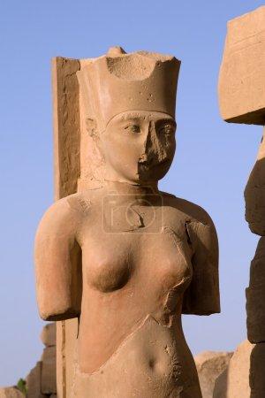 Photo pour Néfertari statue dans le Temple de Karnak (Égypte) - image libre de droit