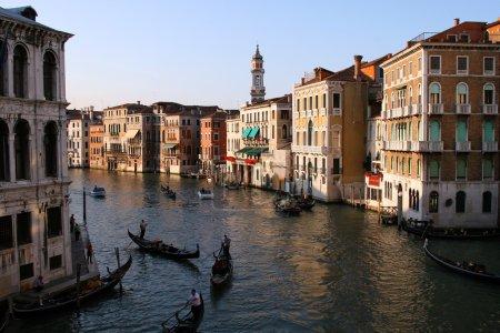 Photo pour Venise Grand canal au coucher du soleil - image libre de droit