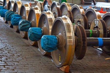 Spare railway wheels