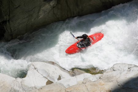 Kayaker in a whitewater
