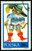 évjárat postai bélyeg. macska a csizma