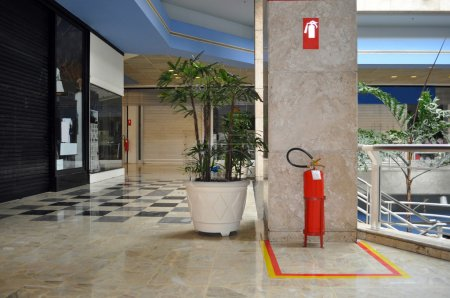 Shopping Mall and fire extinguisher